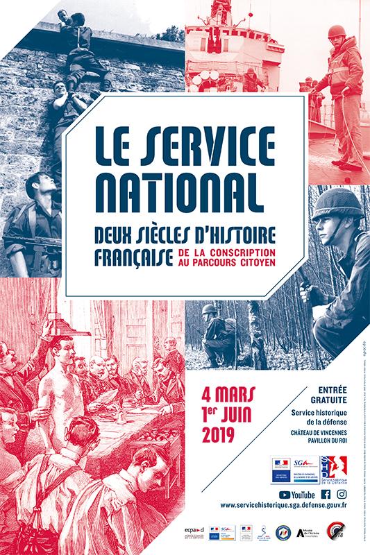 Affiche Le service national, deux siècles d'histoire française, de la construction au parcours citoyen