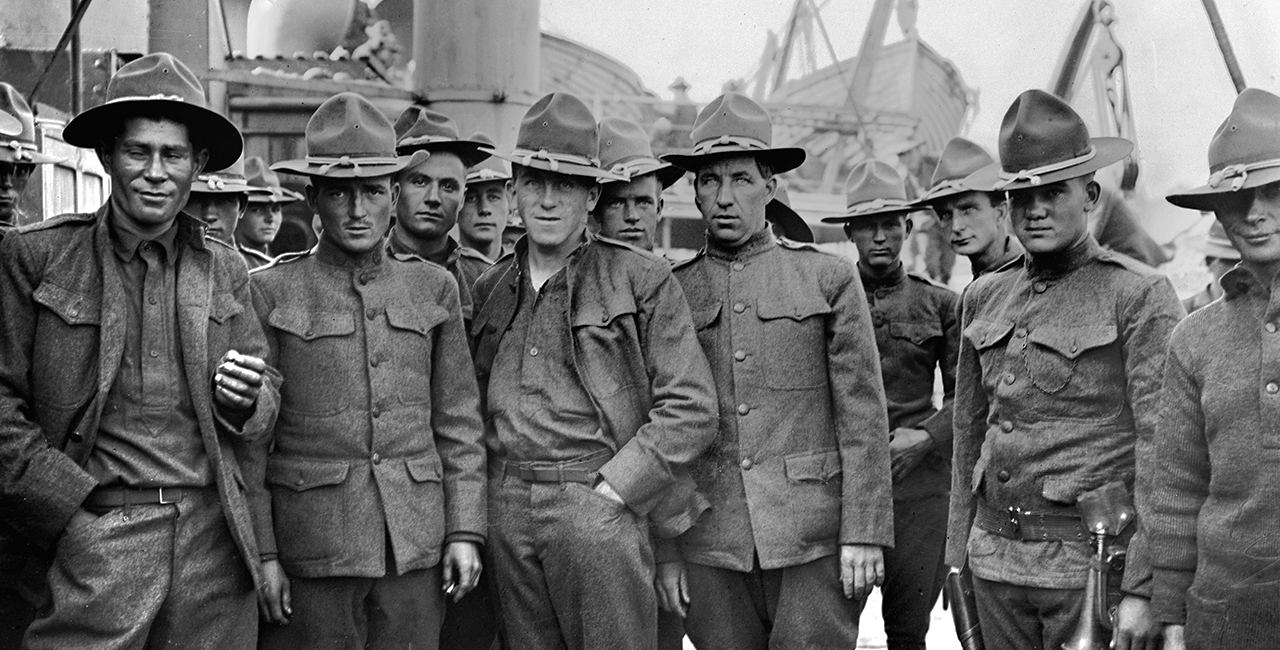 Bannière Les Américains dans la Grande Guerre