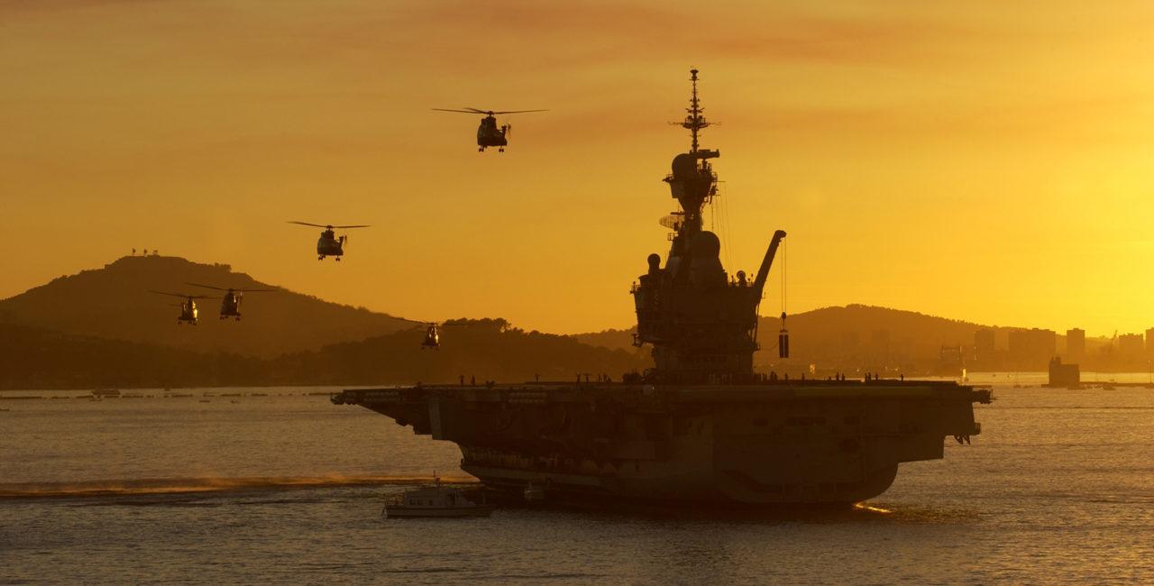 Bannière porte-avions,fleurons de la marine française
