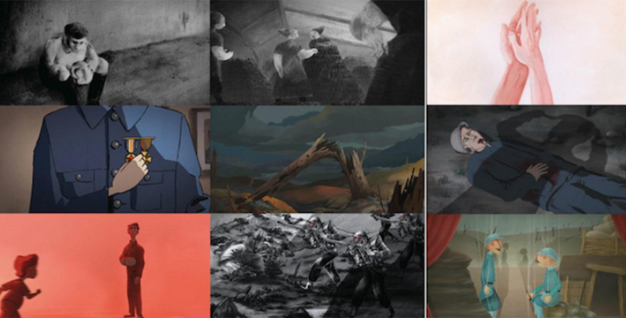 Bannière Warnimation, une collection de très courts métrages animés