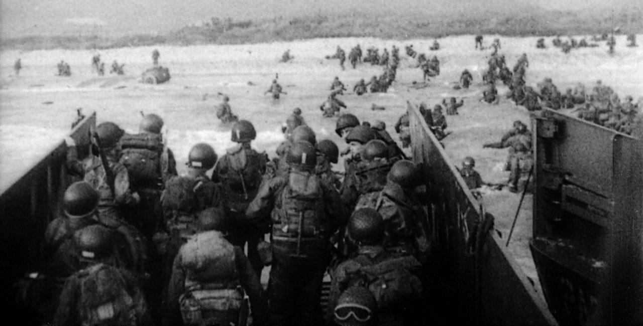 Bannière Les débarquements durant la Seconde Guerre mondiale