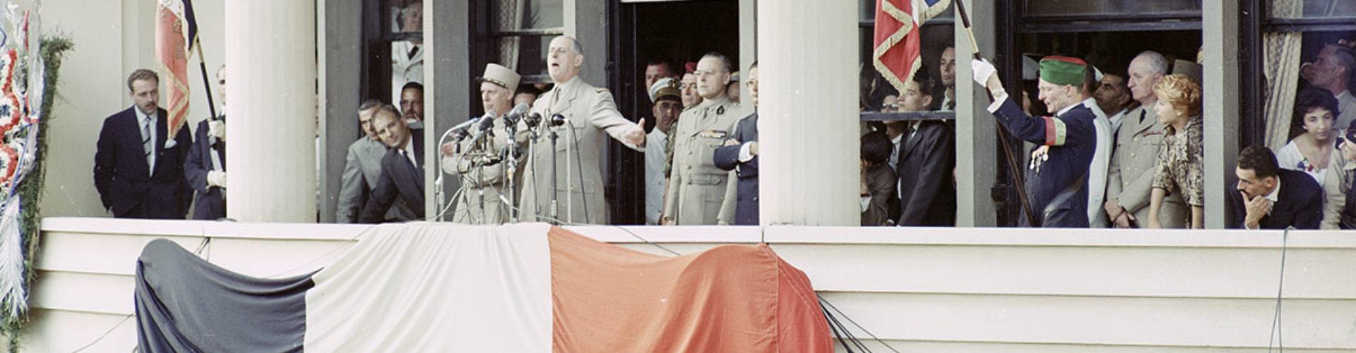 Bannière Dossier n°3 : De Gaulle et l'Algérie 1958-1962