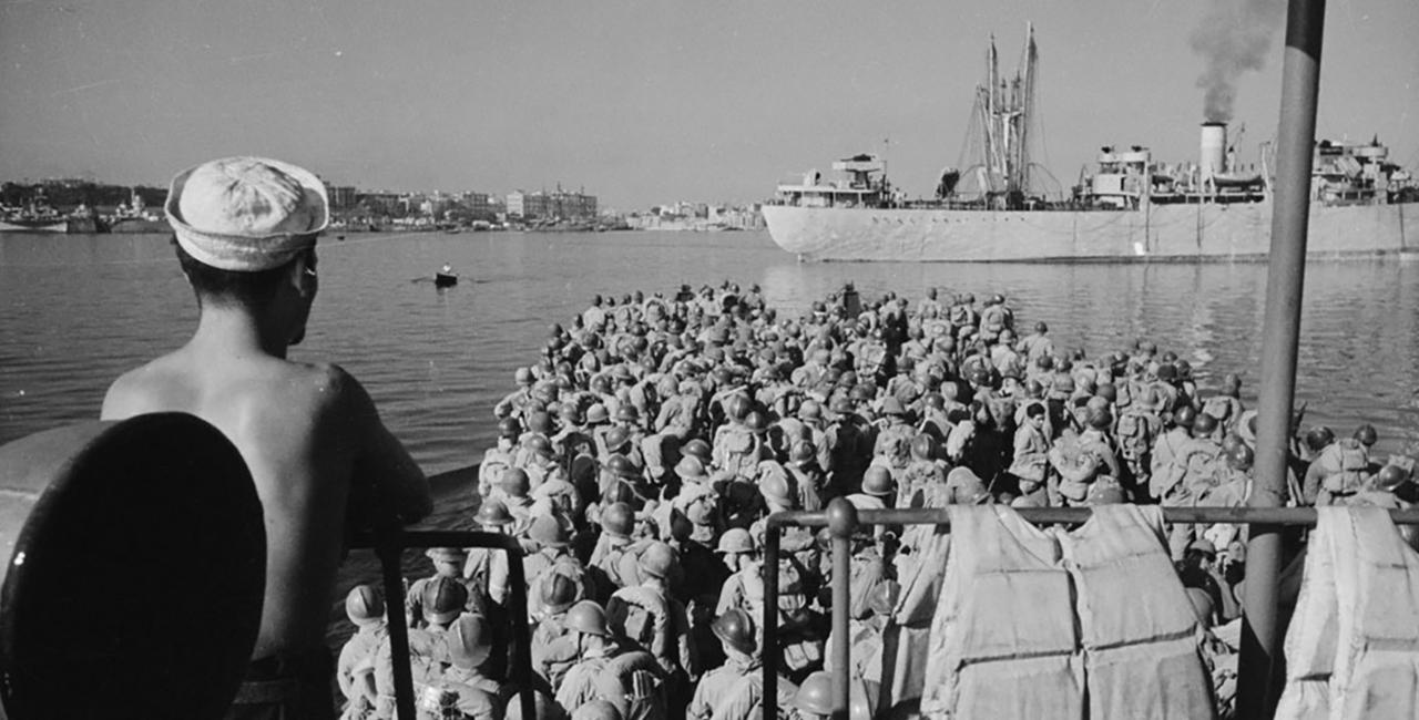 Bannière Le débarquement de Provence, août 1944