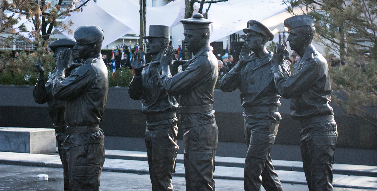 Bannière Cérémonie hommage aux morts en OPEX