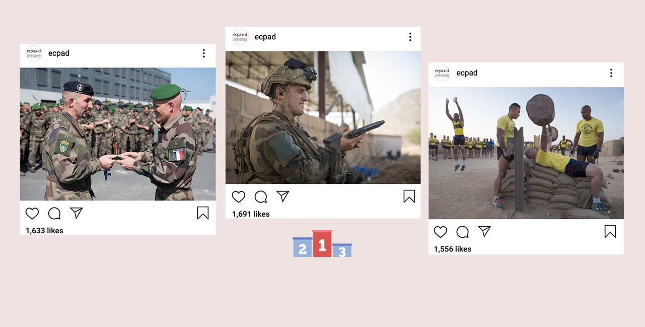 Bannière L'ECPAD sur Instagram : le top 3 de 2019