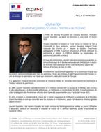 Bannière Nomination de Laurent Veyssière, nouveau directeur de l'ECPAD