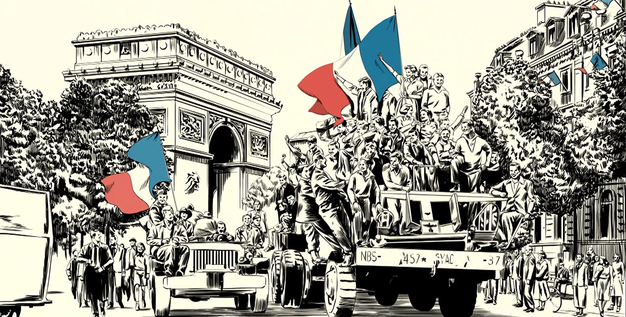 Bannière Commémoration du 8 mai 1945