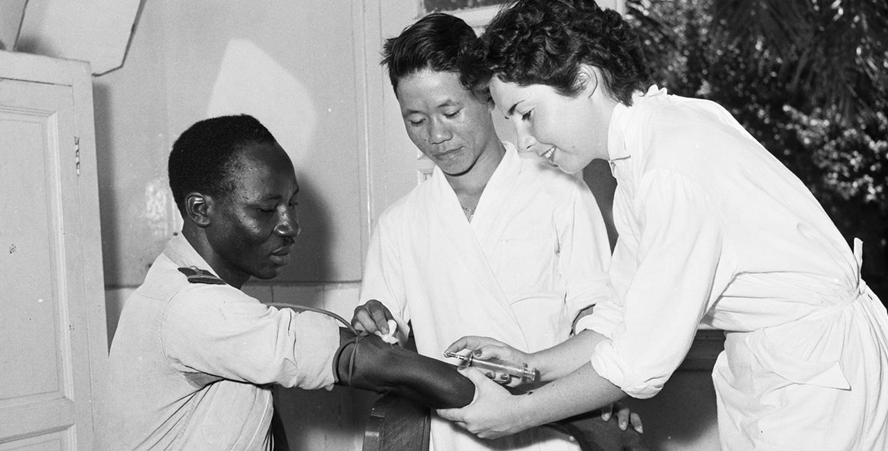 Bannière La vaccination dans les fonds de l'ECPAD