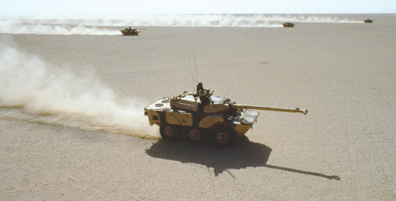 Bannière L'ECPAD lance une souscription pour son nouveau livre —  Daguet, une division française dans la guerre du Golfe (1990-1991).